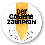 Goldener Zaunpfahl