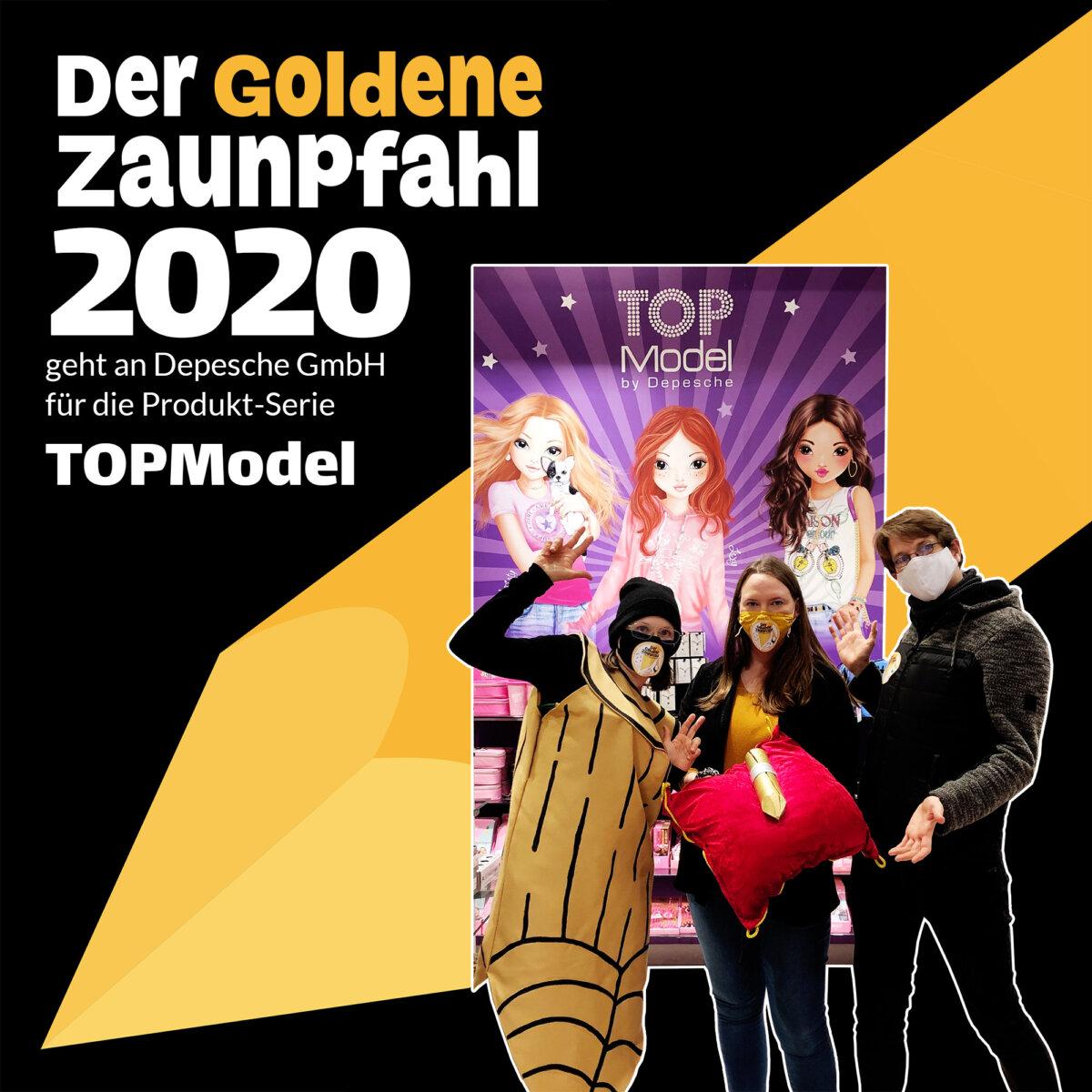 Gewinner*innen des Goldenen Zaunpfahl 2020: TOPModels von Depesche